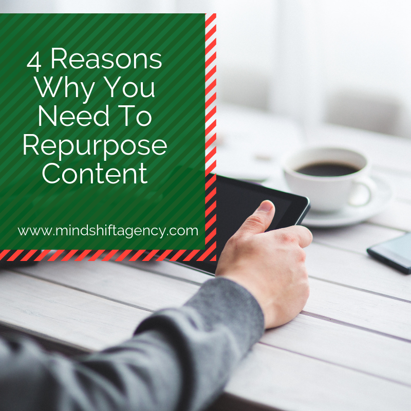 4 Reasons Why You Should Repurpose Content