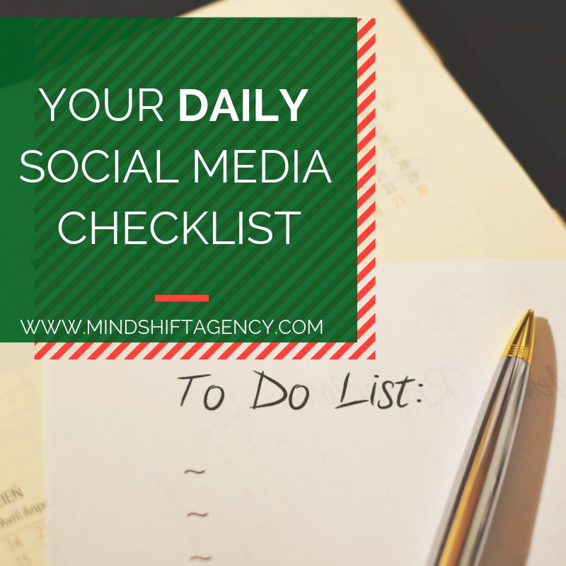 your daily social media checklist